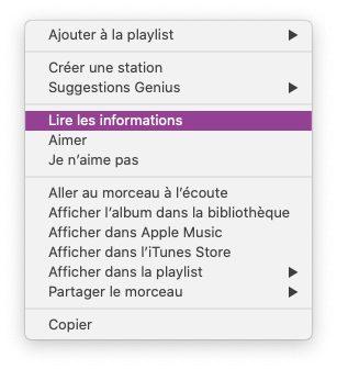 musique lire informations Astuce : faire un karaoké grâce aux paroles synchronisées de Musique sur Mac et iPhone