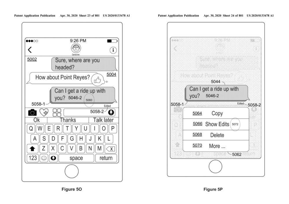 Apple Brevet iMessage Modification iMessage : un brevet déposé par Apple permet de modifier les messages après leur envoi