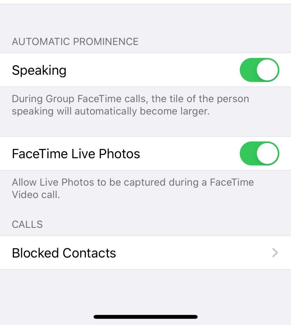 FaceTime Groupe Zoom Desactivation FaceTime : iOS 13.5 propose une fonction pour désactiver le zoom sur la personne qui parle