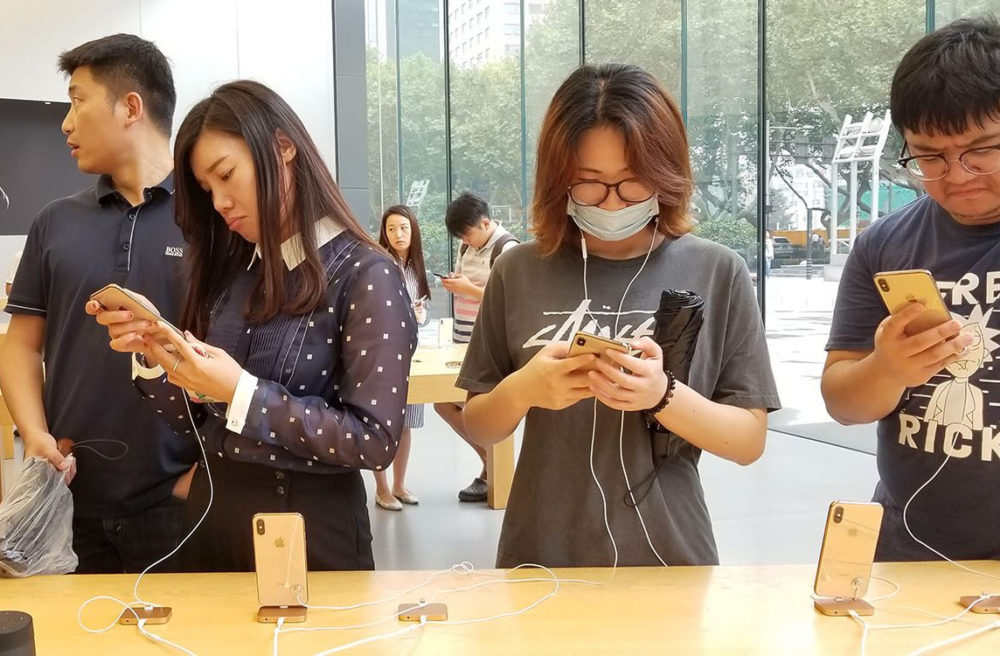 iPhone X Chine Une montée de 160% des ventes diPhone est constatée en Chine en un mois