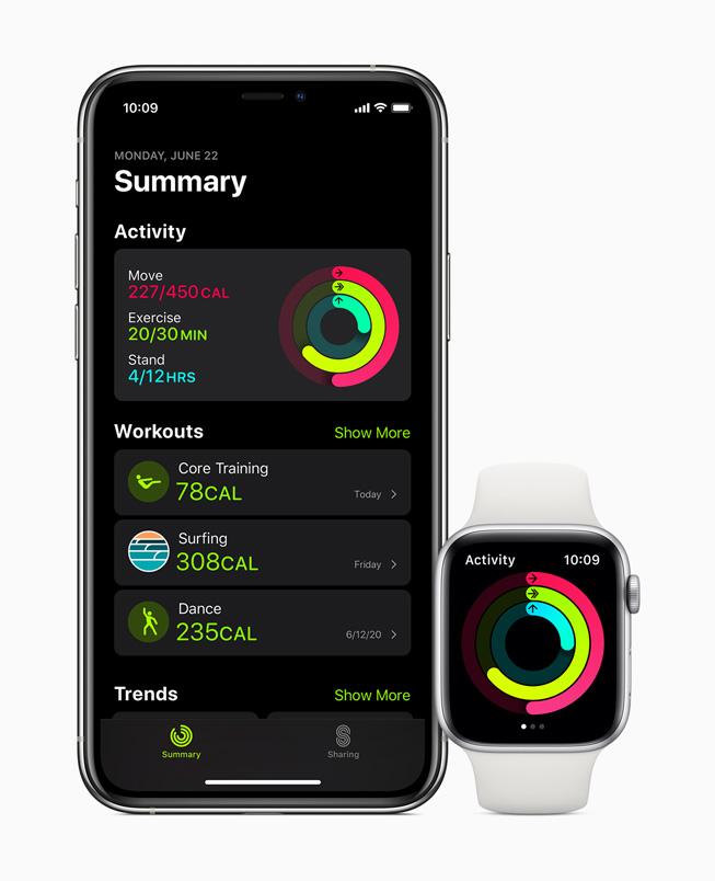 Apple Watch watchOS 7 Fitness watchOS 7 est arrivé : partage de cadran, audition, suivi du sommeil, contrôle du lavage des mains, etc.