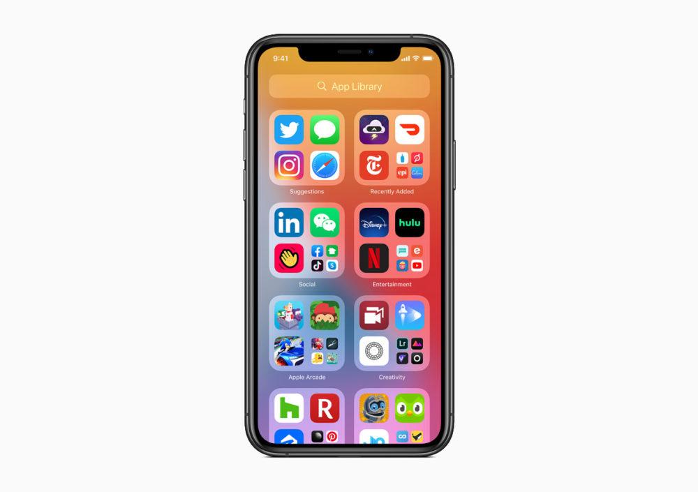 Apple iOS 14 App Library iOS 14 est là : widgets sur lécran daccueil, App Clips, Image dans Image, nouvel écran pour les appels...