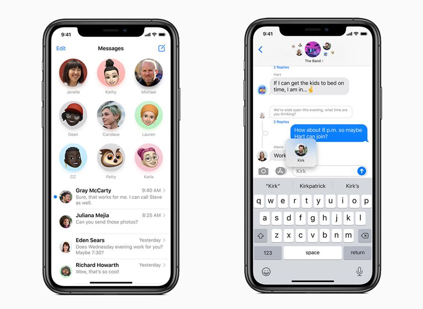 Apple iOS 14 Messages iPhone iOS 14 est là : widgets sur lécran daccueil, App Clips, Image dans Image, nouvel écran pour les appels...
