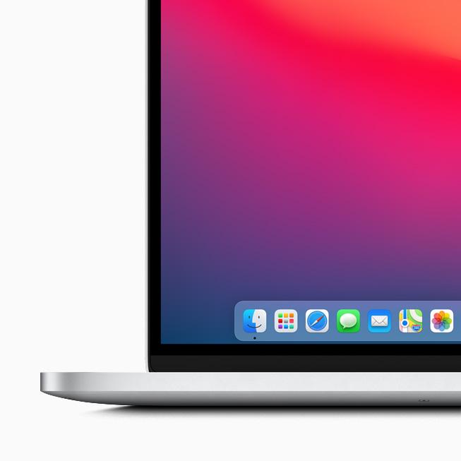 Apple macOS Big Sur Dock Apple lève le voile sur macOS Big Sur : un design revu Plans, Messages et Safari améliorés...