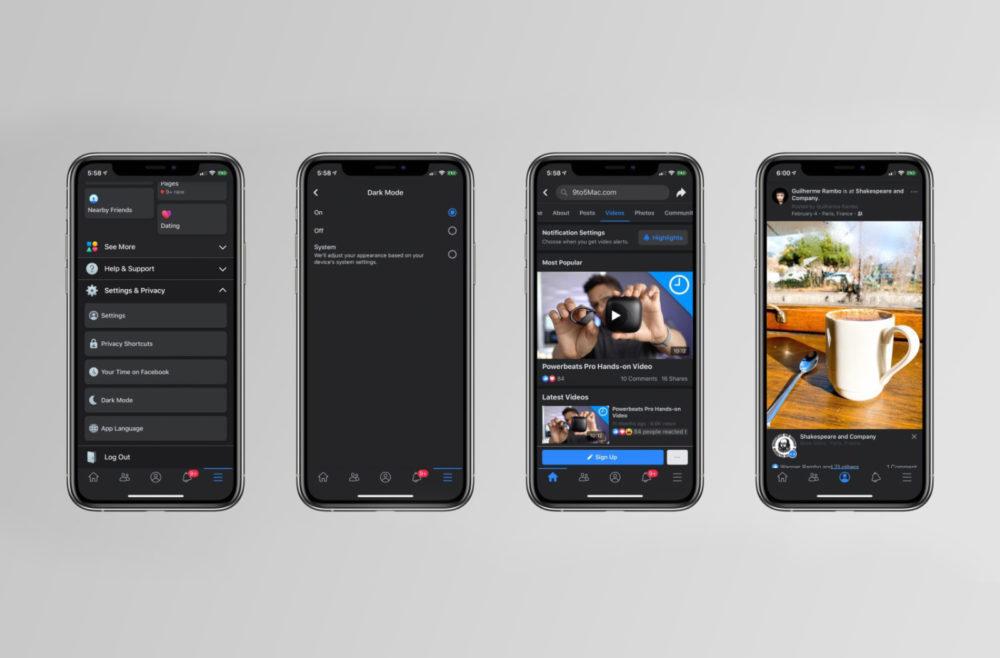 Facebook Mode Sombre Facebook sur iOS : le mode sombre est en cours de déploiement