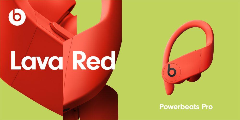 PowerBeats Pro Nouveaux Coloris Lava Red Powerbeats Pro : les 4 nouvelles couleurs sont officialisés par Apple, disponibles le 9 juin