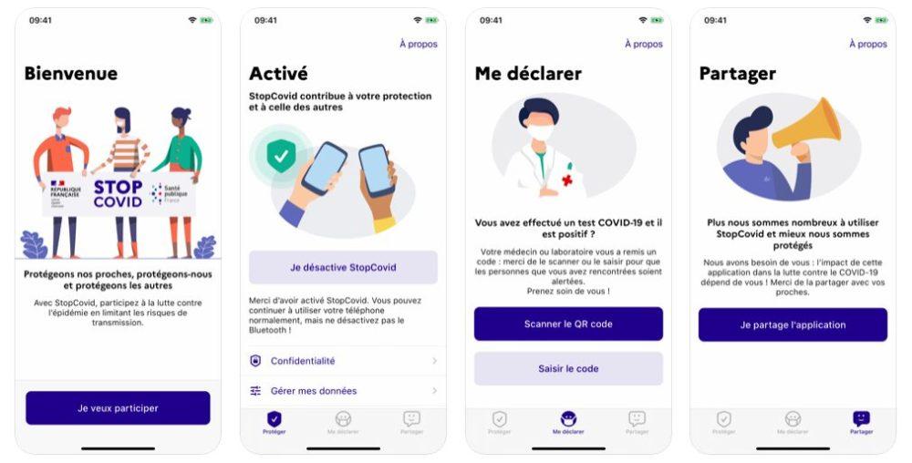 StopCovid France Lapplication française StopCovid est disponible sur iPhone, elle permet de lutter contre le COVID 19
