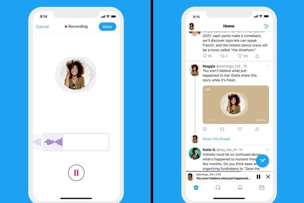 Twitter Tweet Audio Twitter sur iOS : il sera bientôt possible de poster des tweets audio