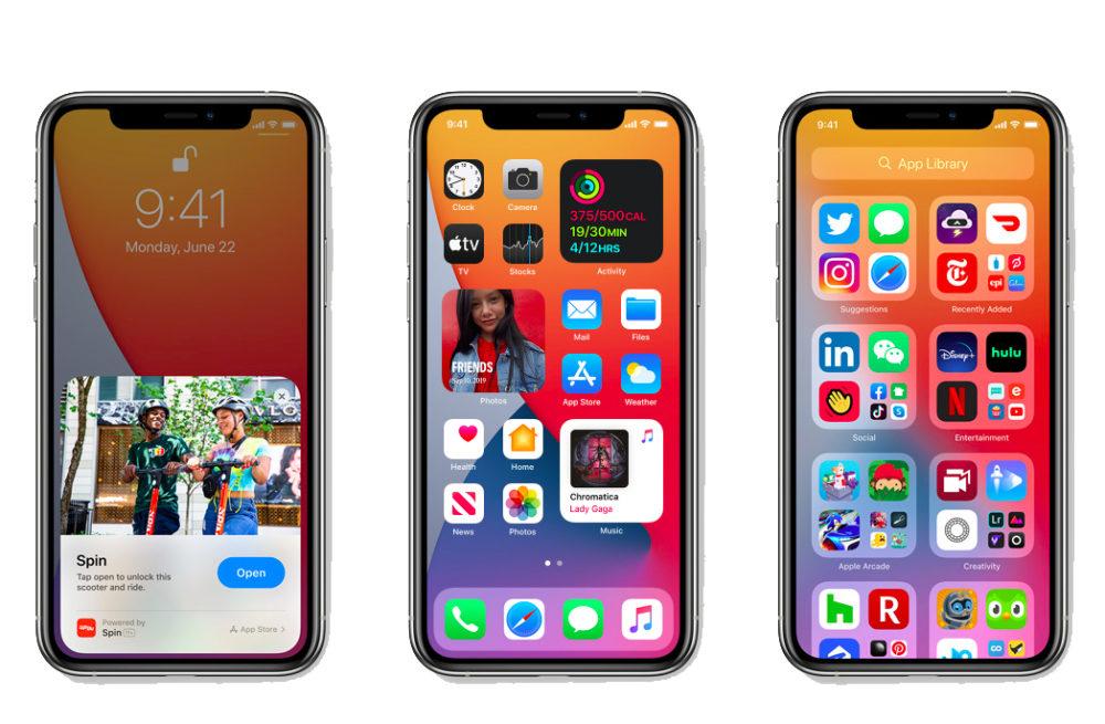 iOS 14 Apple iPhone iOS 14 est là : widgets sur lécran daccueil, App Clips, Image dans Image, nouvel écran pour les appels...