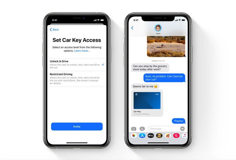 iOS 14 CarKey iOS 14 est là : widgets sur lécran daccueil, App Clips, Image dans Image, nouvel écran pour les appels...