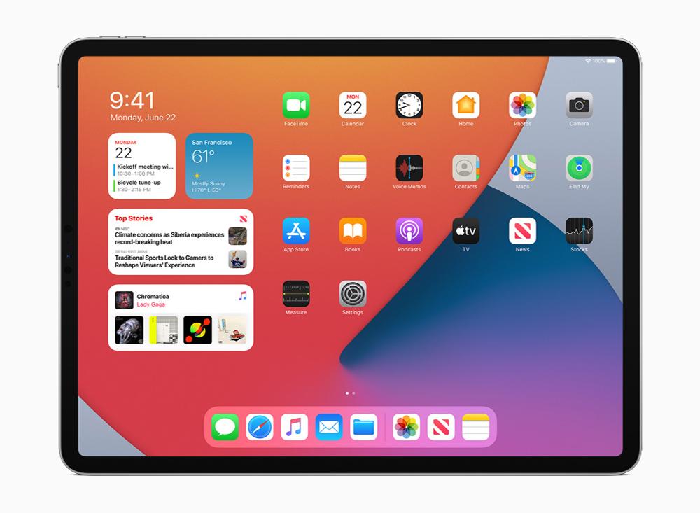 iPadOS 14 Widgets iPadOS 14.7 : Apple rend disponible la version finale