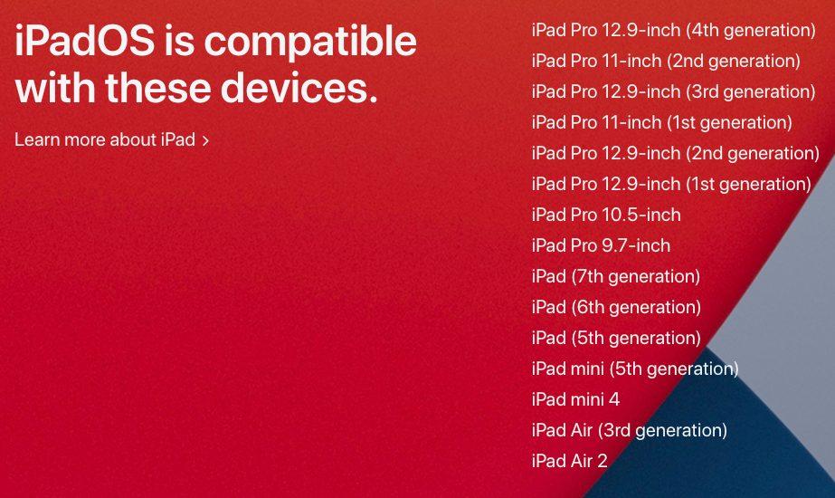 iPadOS 14 iPad Compatibles La version diOS 14 et diPadOS 14 peuvent tourner sur ces appareils