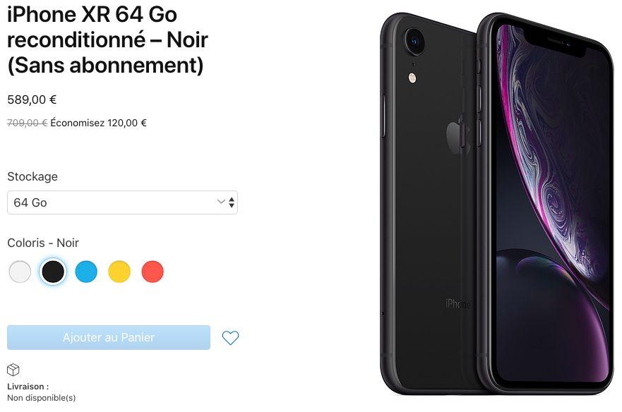 iPhone XR Reconditionne Les iPhone XR reconditionnés arrivent désormais en France