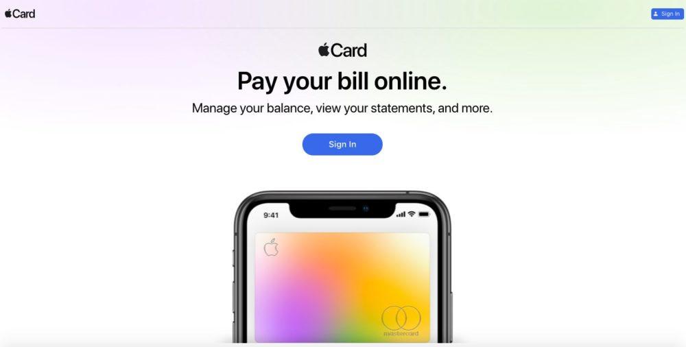 Apple Card Site Apple Apple Card : un site pour vérifier son solde, payer ses factures, consulter ses relevés et plus