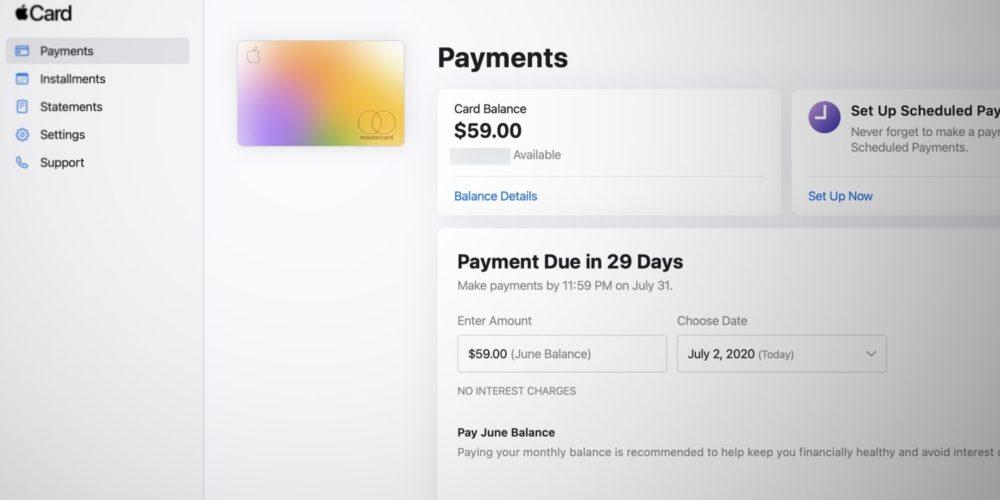 Apple Card Web Apple Card : un site pour vérifier son solde, payer ses factures, consulter ses relevés et plus