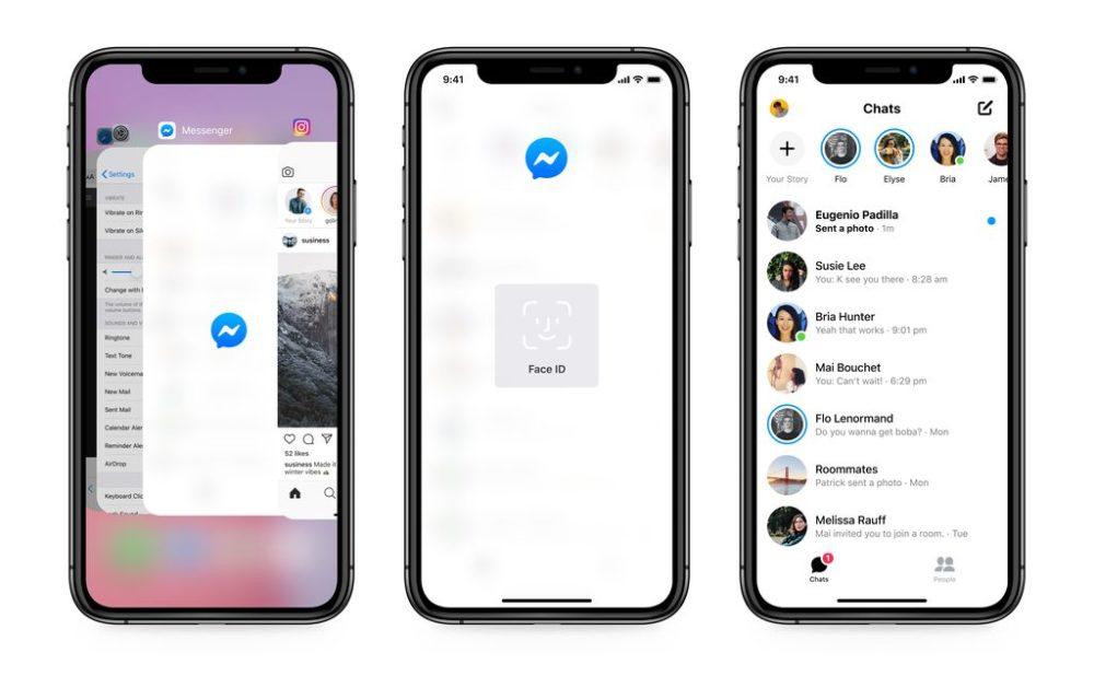 Facebook Messenger iPhone Face ID Touch ID Messenger : il est possible de (dé)verrouiller lapp par Touch ID ou Face ID