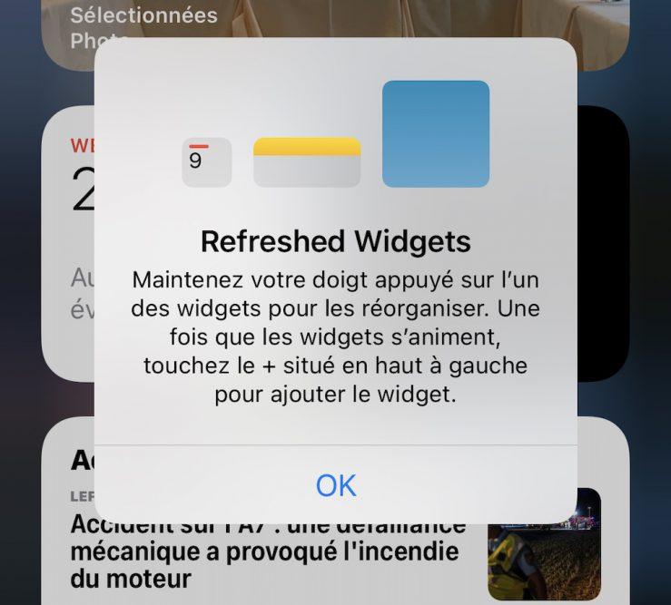 iOS 14 Beta 3 Message Widget iOS 14 bêta 3 : bug stockage corrigé, disparition de 3D Touch et dautres nouveautés