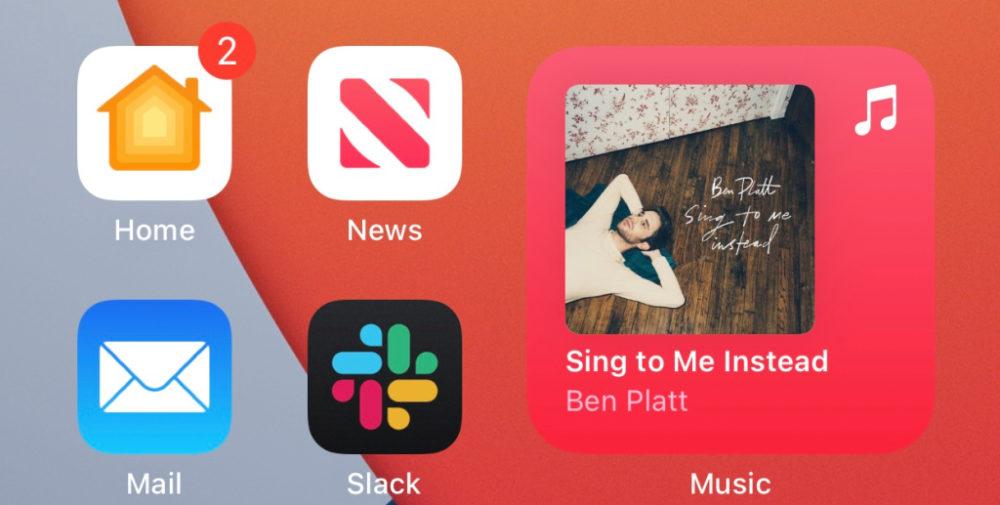 iOS 14 Beta 3 Widget App Musique Arriere Plan iOS 14 bêta 3 : bug stockage corrigé, disparition de 3D Touch et dautres nouveautés