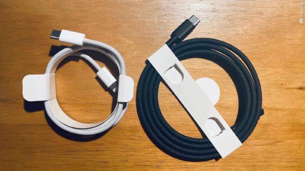 iPhone 12 Cable Lightning Tresse 1 Des images montrent une nouvelle fois le câble Lightning tressé qui serait livré avec liPhone 12