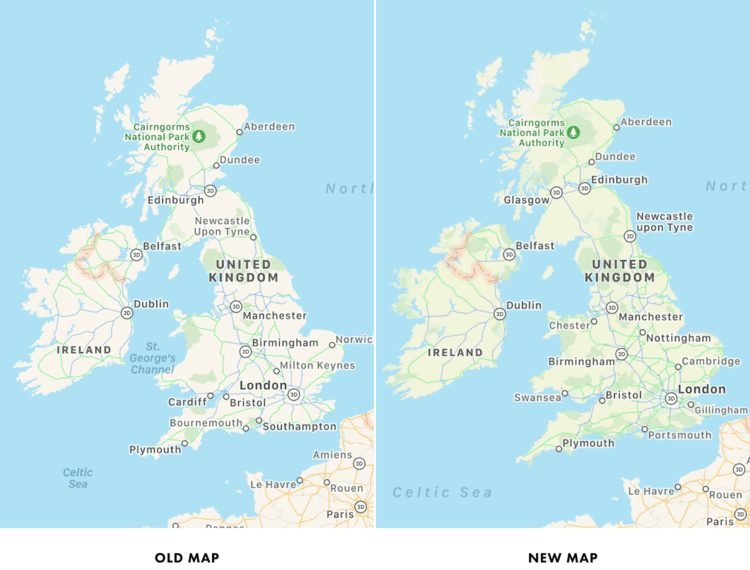 Apple Plans New Map Les cartes améliorées dans lapplication Plans dApple font leur arrivée en Europe