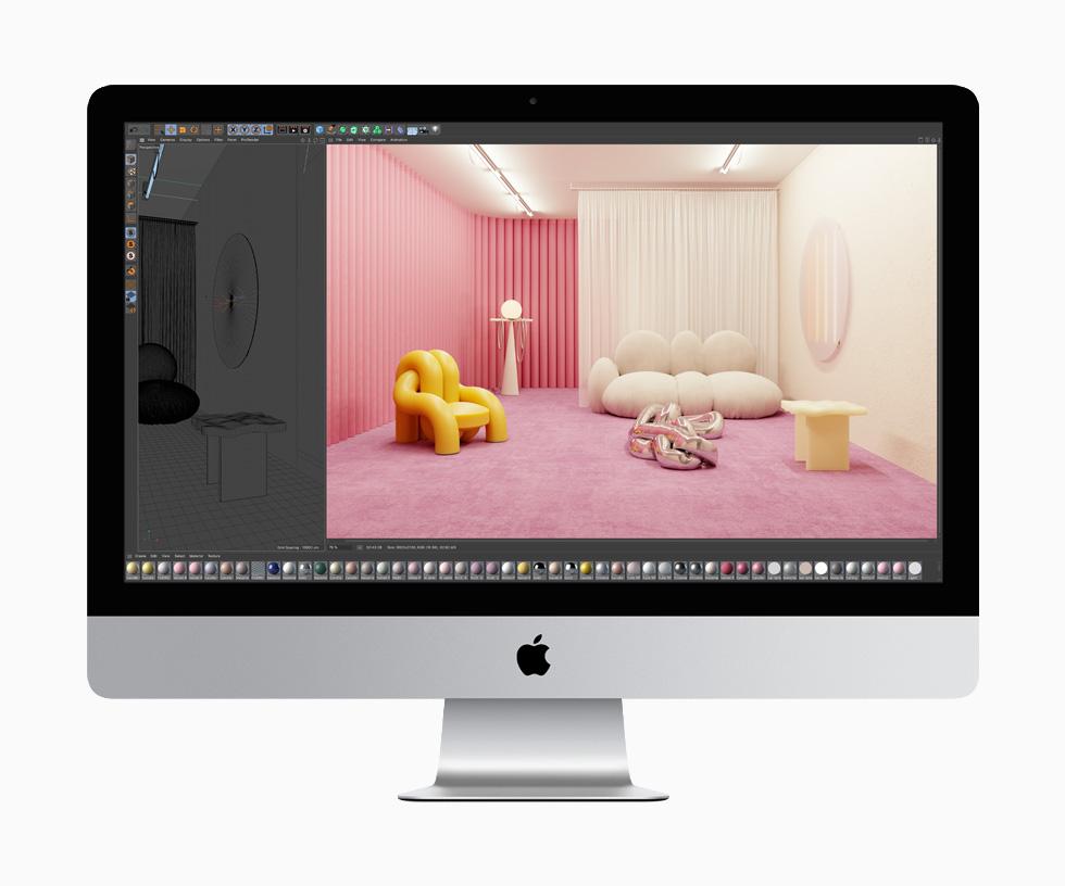 Apple iMac Cinema 4d Apple met à jour liMac 27 pouces : webcam 1080p, processeur Intel 10e gen, la puce T2 et plus