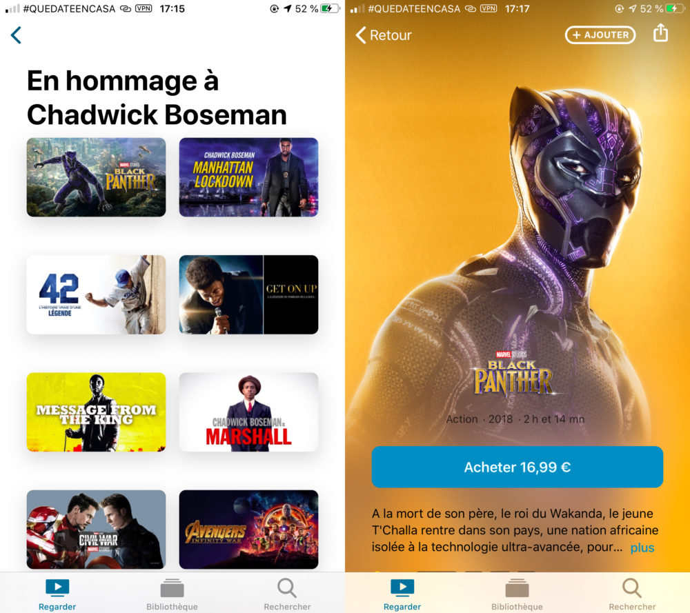 Chadwick Boseman Film Black Panther Mis en Avant Apple TV En hommage à lacteur Chadwick Boseman, Apple met en avant ses films