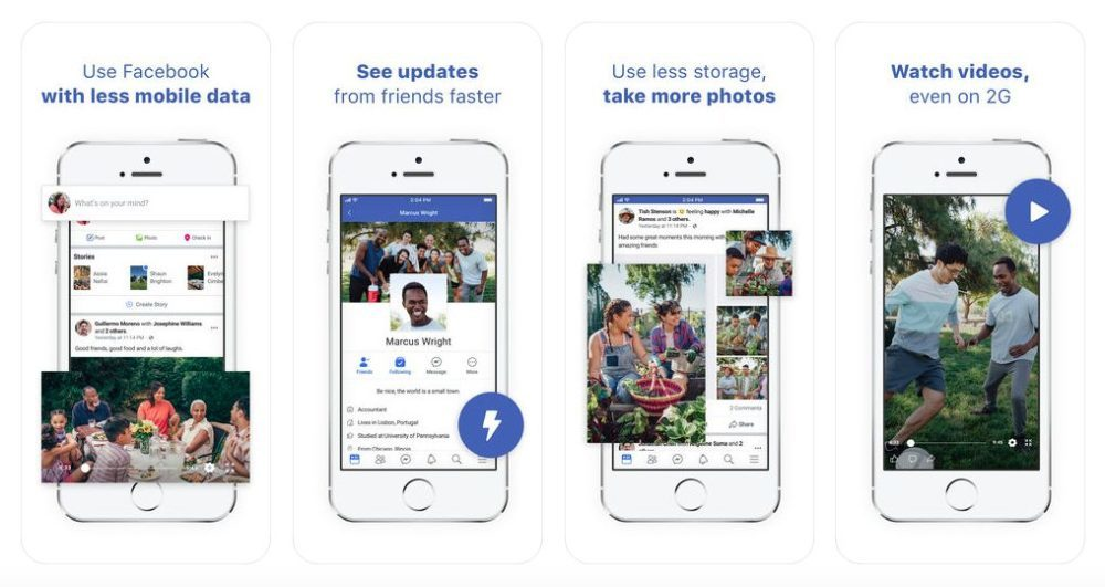 Facebook Lite Facebook a retiré son application Facebook Lite sur lApp Store
