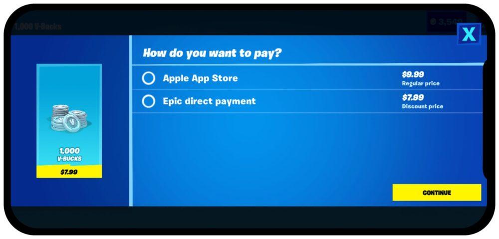 Fortnite Paiement Direct Apple Epic Games propose une autre option de paiement direct, Apple retire le jeu Fortnite de lApp Store