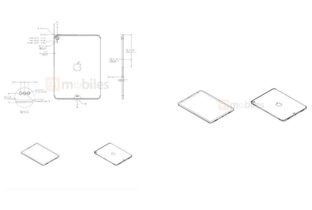 Rumeur Nouvel iPad Schemas Un iPad 10,8 pouces avec USB C et Face ID se dévoilent avec des schémas