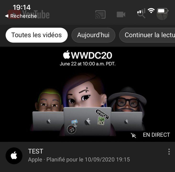 WWDC 2020 Erreur Apple 2 Date de la prochaine keynote dApple ? Apple a programmé et retiré une vidéo en direct sur YouTube