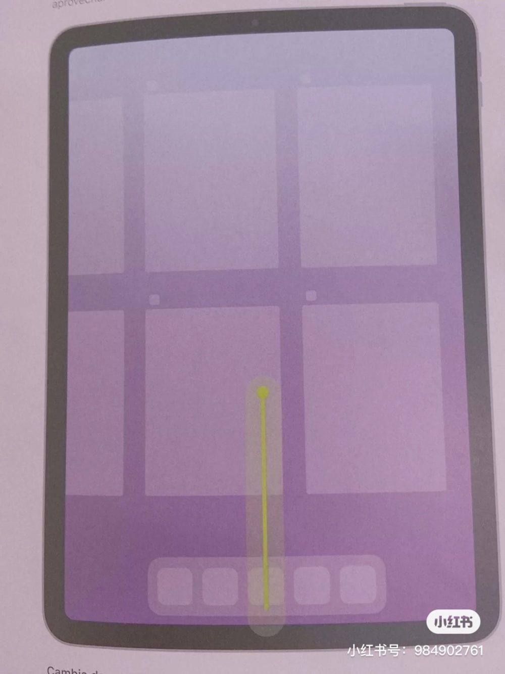 iPad Air 4 : un manuel montre un port USB C et Touch ID sur le bouton ON/OFF