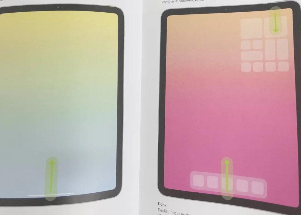 iPad Air 4 Rumeurs Fuite iPad Air 4 : un manuel montre un port USB C et Touch ID sur le bouton ON/OFF