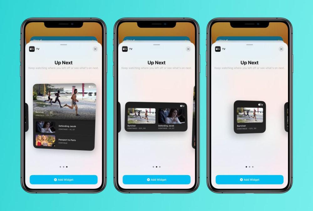 tv app widgets Quoi de neuf dans iOS 14 et iPadOS 14 bêta 4 ? Voici la liste des nouveautés
