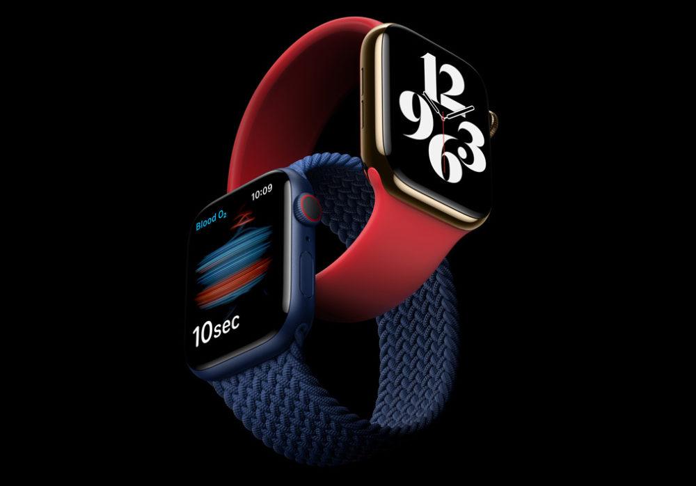 Apple Watch Series 6 Nouveaux Coloris LApple Watch Series 6 est présentée par Apple : nouveaux coloris, contrôle du taux doxygène dans le sang...