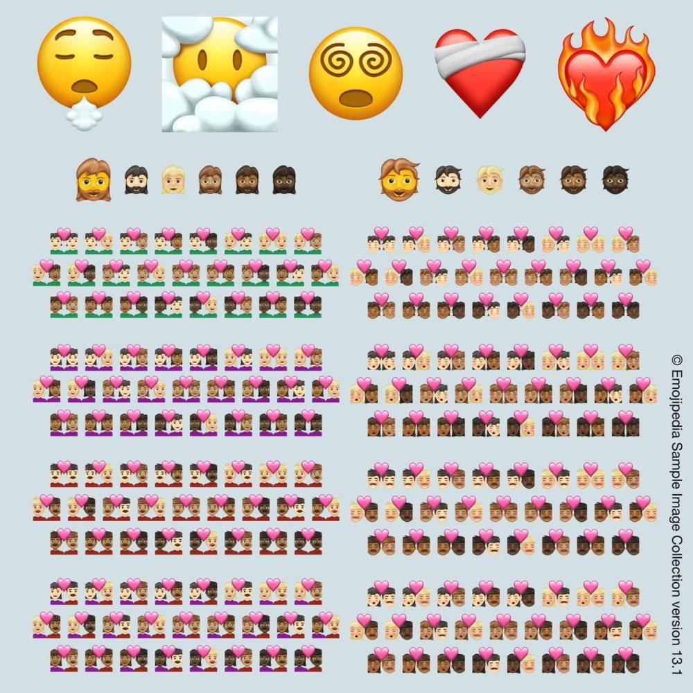 Emojipedia sample image collection 13 1 217 new emojis for 2021 Unicode dévoile les 217 nouveaux Emojis qui arriveront sur iPhone, iPad et autres appareils en 2021