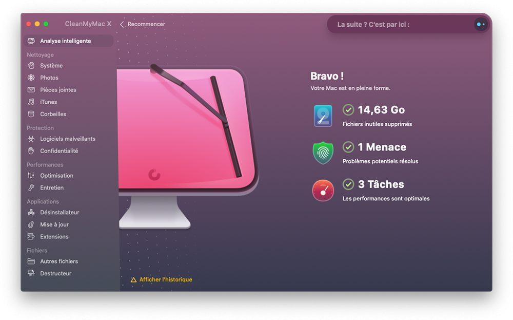 cleanmymac x analyse intelligente resultats Pourquoi et comment utiliser CleanMyMac X sur un Mac lent