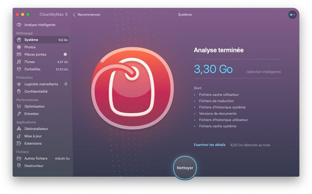 cleanmymac x analyse terminee systeme Pourquoi et comment utiliser CleanMyMac X sur un Mac lent
