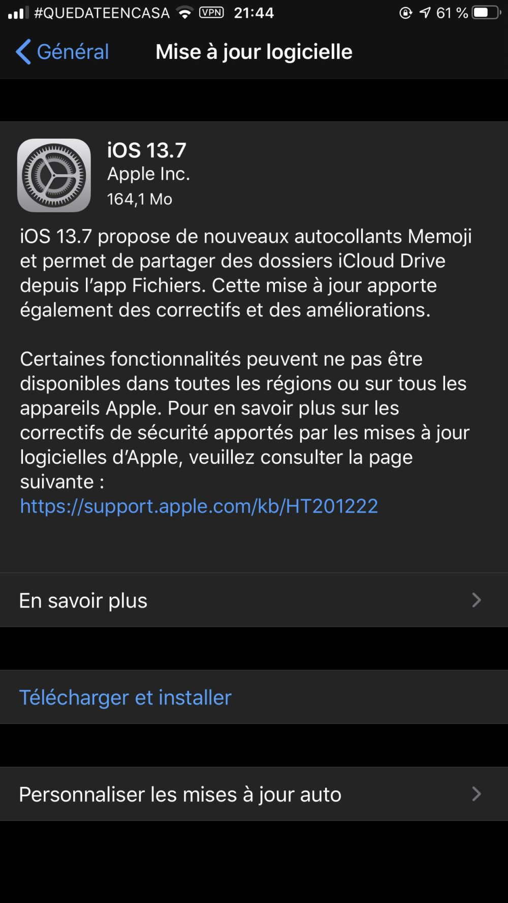 iOS 13.7 iOS 13.7 disponible : nouveau système de notifications COVID 19 intégré et plus encore