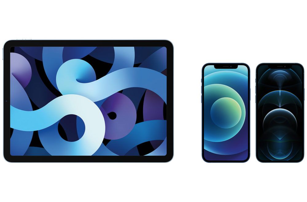 Apple iPad Air iPhone 12 Pro iPhone 12 LiPhone 12, liPhone 12 Pro et liPad Air 4 sont proposés à lachat par Apple