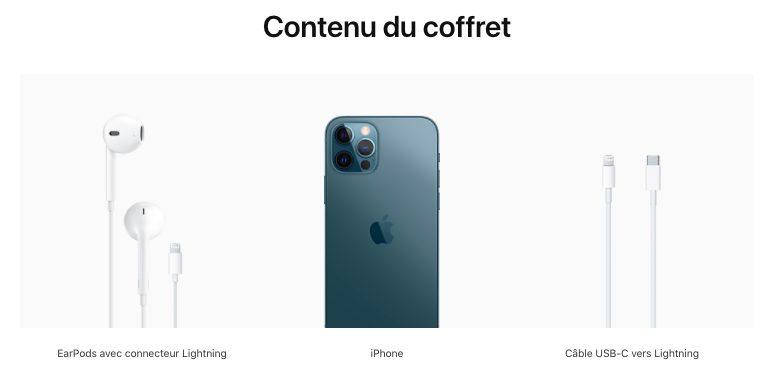 Contenu du coffret iPhone 12 France Apple livre les iPhone 12 avec des écouteurs... en France