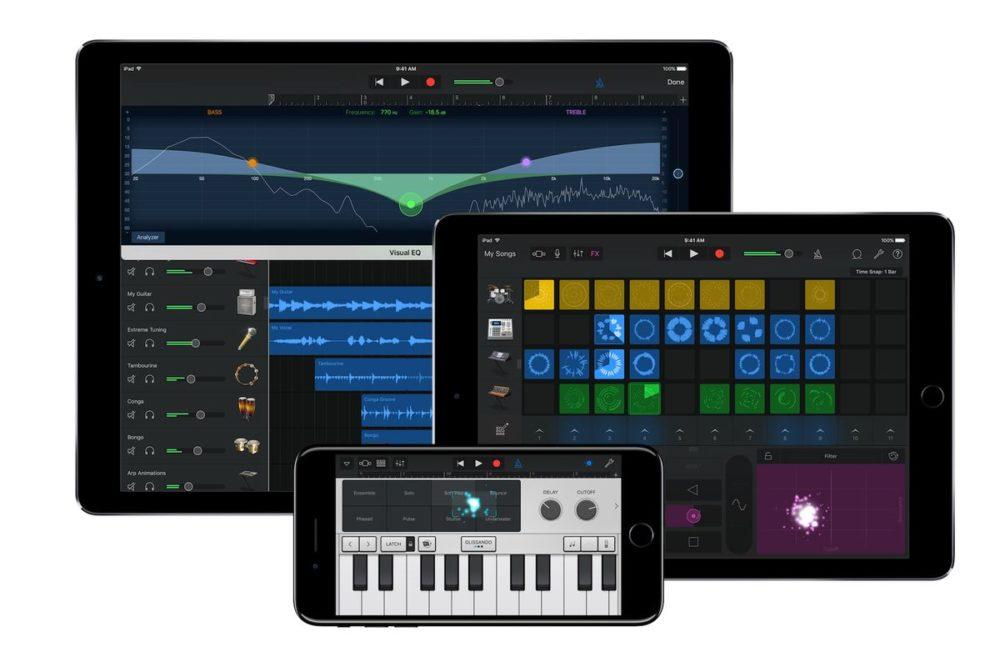 GarageBand iPhone iPad Les apps GarageBand et iMovie sur iOS sont à jour : plusieurs nouveautés sont ajoutés