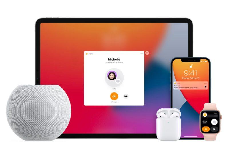 Intercom HomePod mini iPad iPhone Apple Watch AirPods HomePod mini : petit, mais super intelligent avec de nouvelles fonctionnalités Siri