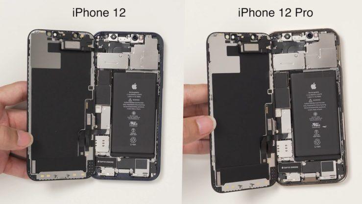 Interieur iPhone 12 et Interieur iPhone 12 Pro iPhone 12 et iPhone 12 Pro : ils ont tous deux la même batterie