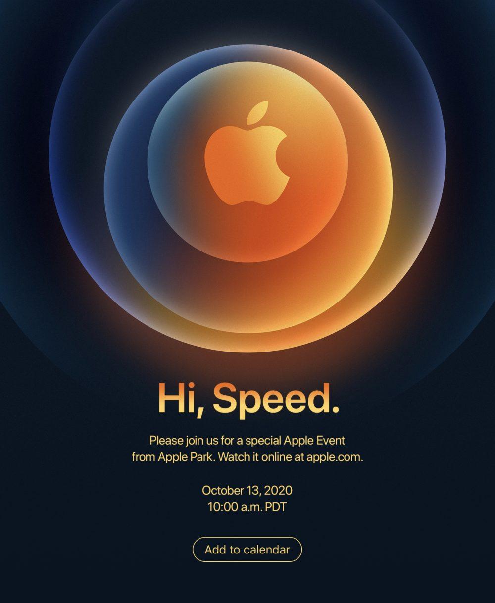 iPhone 12 Keynote Hi Speed Cest confirmé ! LiPhone 12 sera présenté par Apple le 13 octobre à venir