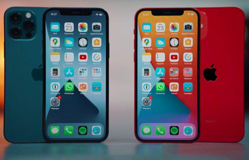 iPhone 12 Pro Bleu iPhone 12 Rouge iPhone 12 et iPhone 12 Pro : ils ont tous deux la même batterie