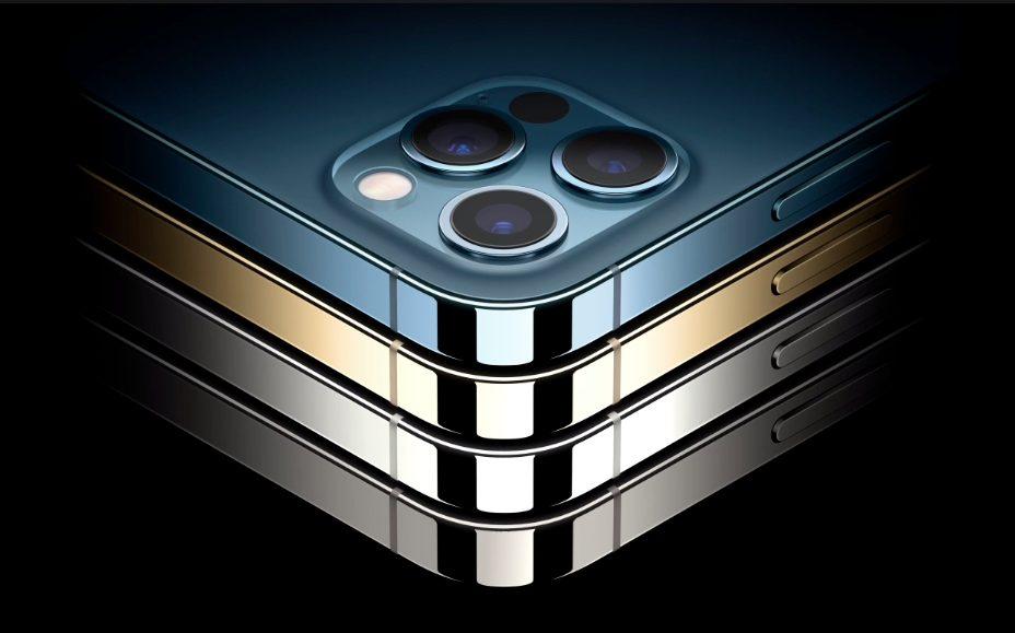 iPhone 12 Pro iPhone 12 Pro Max Coloris iPhone 12 Pro et 12 Pro Max : 5G, design proche de liPhone 4, Dolby Vision, LiDAR, A14 Bionic, 3 capteurs photos...