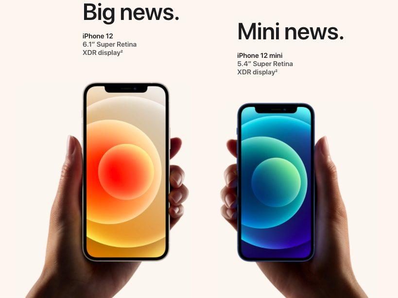 iPhone 12 iPhone 12 Mini 2 iPhone 12 et 12 mini : 5G, design proche de liPad Pro, 2 capteurs photos, verre plus résistant, MagSafe...