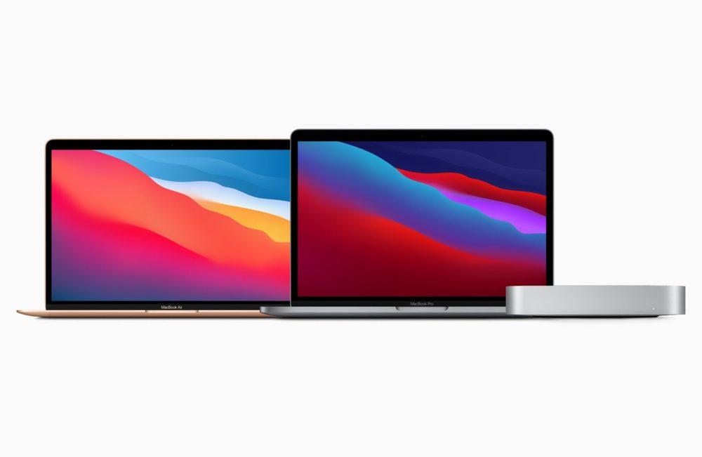 Apple Mac MacBook Air MacBook Pro Mac mini Les MacBook Air, MacBook Pro et les Mac mini équipés de la puce M1 sont disponibles à lachat