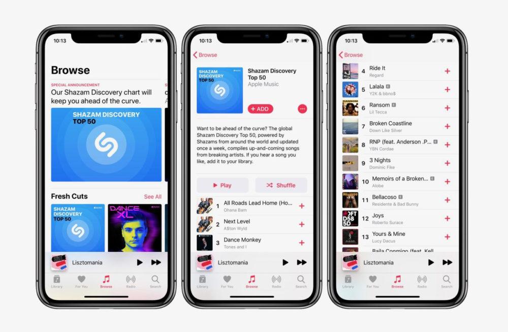 Apple Music : recevez jusquà 5 mois gratuits en passant par Shazam