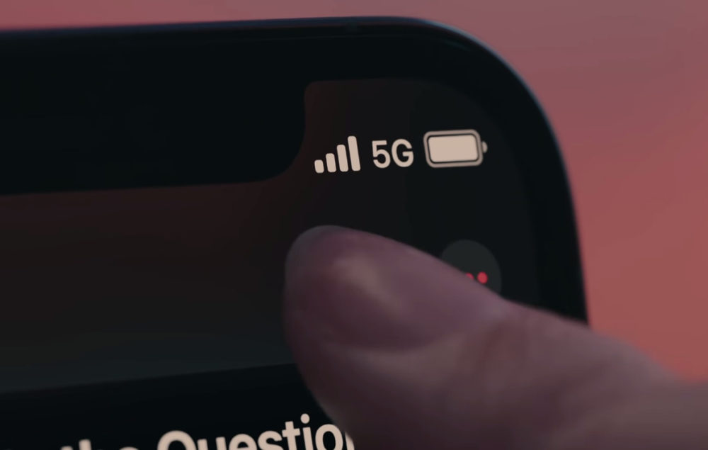 Apple iPhone 12 5G Logo Le logo 5G peut apparaître sur les iPhone 12 même si vous êtes en 4G